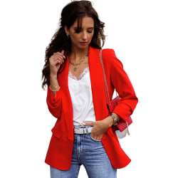 Women Temperament Commutes Occupation Slim Tops Jacket Coats Red XXL
