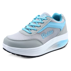Women Trainers Shoes Fitness Running Sports Sneakers Blue 37