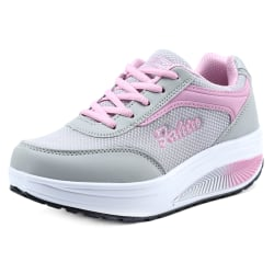Women Trainers Shoes Fitness Running Sports Sneakers Pink 36