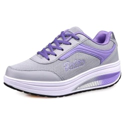 Women Trainers Shoes Fitness Running Sports Sneakers Purple 42