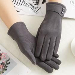 Women Winter Warm Gloves Touch Screen Waterproof Anti-slip Grey