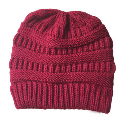 Dam Winter Warmer Stickad Mössa Crochet Messy Hat