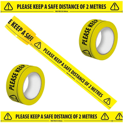 Yellow Distancing Stickers Floor Tape Roll 1/2/5pcs 1pcs