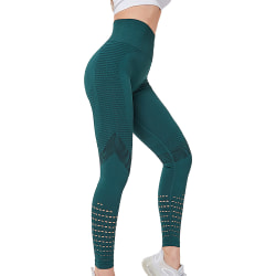 Yoga Pants Women High Waisted Leggings Workout Nylon Leggings Green S