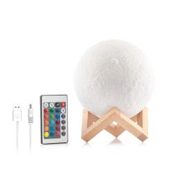 Moonlamp 3D LED Multicolor - Månlampa