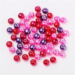 Glaspärlor 8mm Kärleks-mix, ca 50st 8 mm
