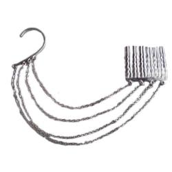 Ear wrap med hårsmycke