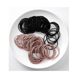 100-pack Hårsnoddar (puderrosa/svart) multifärg