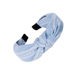 Diadem Knotted Leaf Headband (ljusblå)