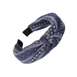 Diadem Knotted Leaf Headband (marinblå)