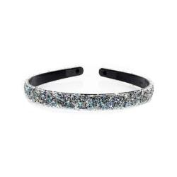 Diadem med Glitter (flerfärgat) Svart