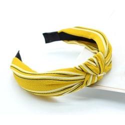 Diadem med Knut Randigt (gul/svart/vit) Gul