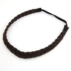 Hårband Fläta (mörkbrun)