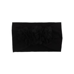 Hårband för baby/barn Blommor (svart) Svart