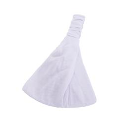 Hårband i Bred Trikå (vit) Vit