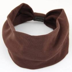 Hårband Trikå med knut (chokladbrun)