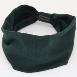 Hårband Trikå med knut (mörkgrön)