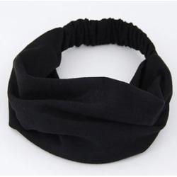 Hårband Trikå svart
