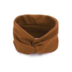 Hårband Twisted Extra Brett (ljusbrun) Brun