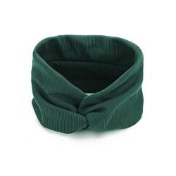 Hårband Twisted Extra Brett (mörkgrön) Mörkgrön