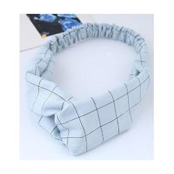 Hårband Twisted Rutigt (ljusblå/svart)