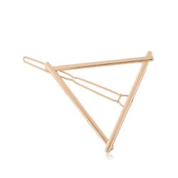 Hårklämma Triangel (guld)