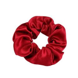 Stor Scrunchie i Satin (röd) Röd