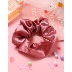 Stor Scrunchie i Satin (rosaröd) Rosa