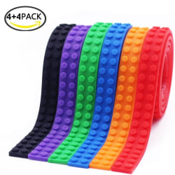 8-Pack LEGO Compatible Nimuno Loops Toy Block Tape (8x1m)