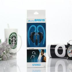 Actrail Stereo Sporthörlurar med Mikrofon Samtalskontroll -Blå Blå