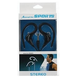 Actrail Stereo Sporthörlurar med Mikrofon Samtalskontroll -Svart Svart