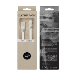 Beeyo 2-Amp Flat MicroUSB Kabel För Smartphones - Vit Vit