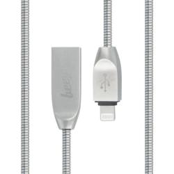 Beeyo Zinc Lightning kabel för iPhone iPad iPod Silver