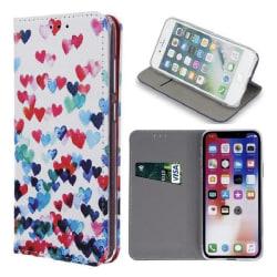Huawei Mate 10 Lite - Smart Trendy Mobilplånbok White - Trendy Hearts