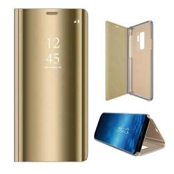 Huawei P40 Lite - Smart Clear View Fodral - Guld Guld