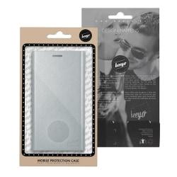 Huawei P9 Lite Mini - Beeyo Book Grande Plånboksfodral - Silver Silver