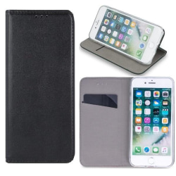 Huawei Y6 (2019) - Smart Magnetic Flip Case Mobilplånbok - Svart Black