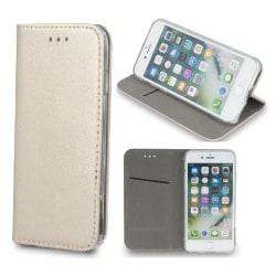 LG K40 - Smart Magnetic Mobilplånbok - Guld Guld