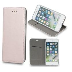 LG K40 - Smart Magnetic Mobilplånbok - Rosa guld Rosa guld