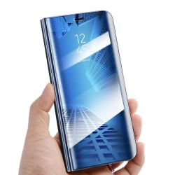 Moto G9 Play / Moto E7 Plus - Smart Clear View Fodral - Blå Blå