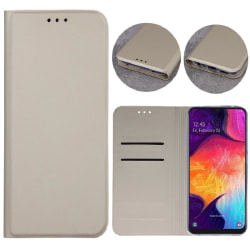 Moto G9 Play / Moto E7 Plus - Smart Skin Mobilplånbok - Guld Guld