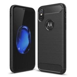 Motorola Moto G8 Power - Flexibel Carbon Mjuk TPU Skal - Svart Black