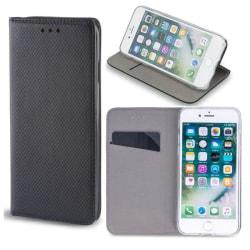 Moto G9 Play / Moto E7 Plus - Smart Magnet Mobilplånbok - Svart Black