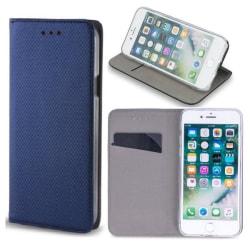 Samsung A6 Plus (2018) - Smart Magnet Mobilplånbok - blå Marinblå