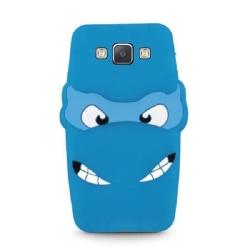 Samsung Galaxy A5 (2015) - 3D Silikonskydd Skal - Blå Blå