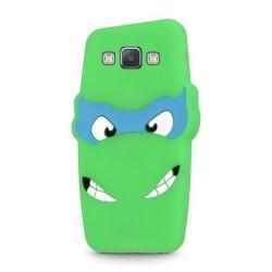 Samsung Galaxy A5 (2015) - 3D Silikonskydd Skal - Grön Grön