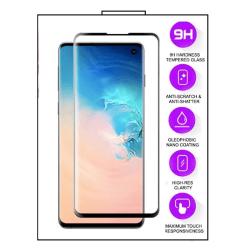 Samsung Galaxy A71 - 5D helskärm Härdat Glas - Svart Ram Transparent