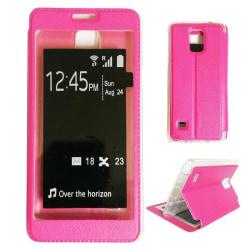 Samsung Galaxy Note 4 Smart View Flip Case Fodral - Rosa Rosa