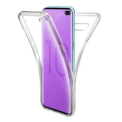 Samsung Galaxy S10 Plus - 360 Full Body Transparent Gel Skal Transparent