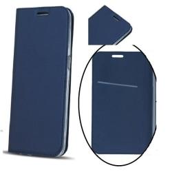 Samsung Galaxy S8 Plus - Smart Premium Mobilplånbok - Mörkblå Svart